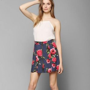 NWT Pins & Needles Zip Front Floral Skater Skirt S